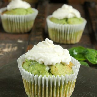 Spinach and Almond Cupcakes