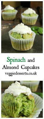 Spinach Almond Cupcakes | Veggie Desserts Blog