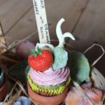 Spinach Cupcakes with Strawberry Buttercream