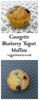 Courgette (zucchini) Blueberry Yogurt Muffins | Veggie Desserts Blog
