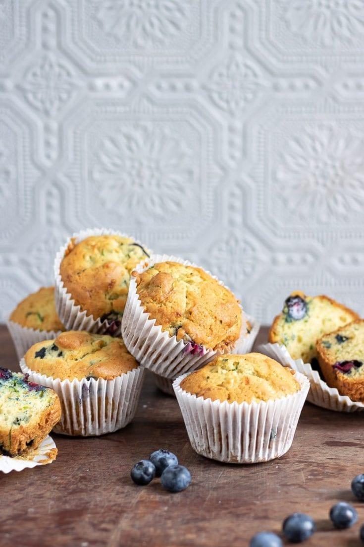 Blueberry Courgette Muffins (zucchini)