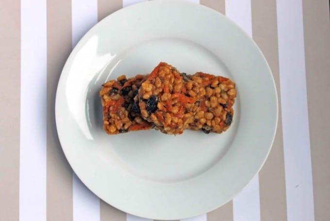Carrot and Peanut Butter Rice Krispie Squares   Veggie Desserts Blog