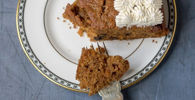 Easy Carrot Cake with Maple Whipped Cream Topping