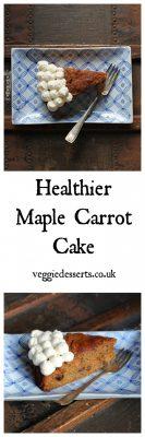 Healthier Maple Carrot Cake | Veggie Desserts Blog