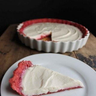 White Chocolate and Yogurt Pie with Beetroot Pastry