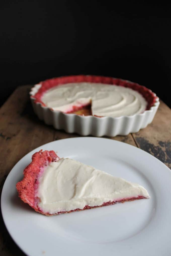 White Chocolate Yogurt Pie with Beetroot Pastry | Veggie Desserts Blog