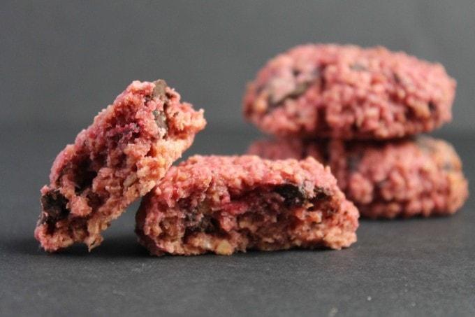 Beetroot Chocolate Chunk Cookies