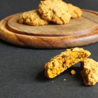 Pumpkin Hazelnut Oat Biscuits | Veggie Desserts Blog