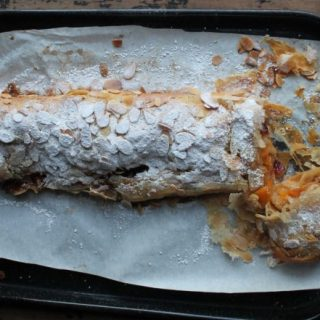 Squash and Apple Strudel with Dried Cranberries