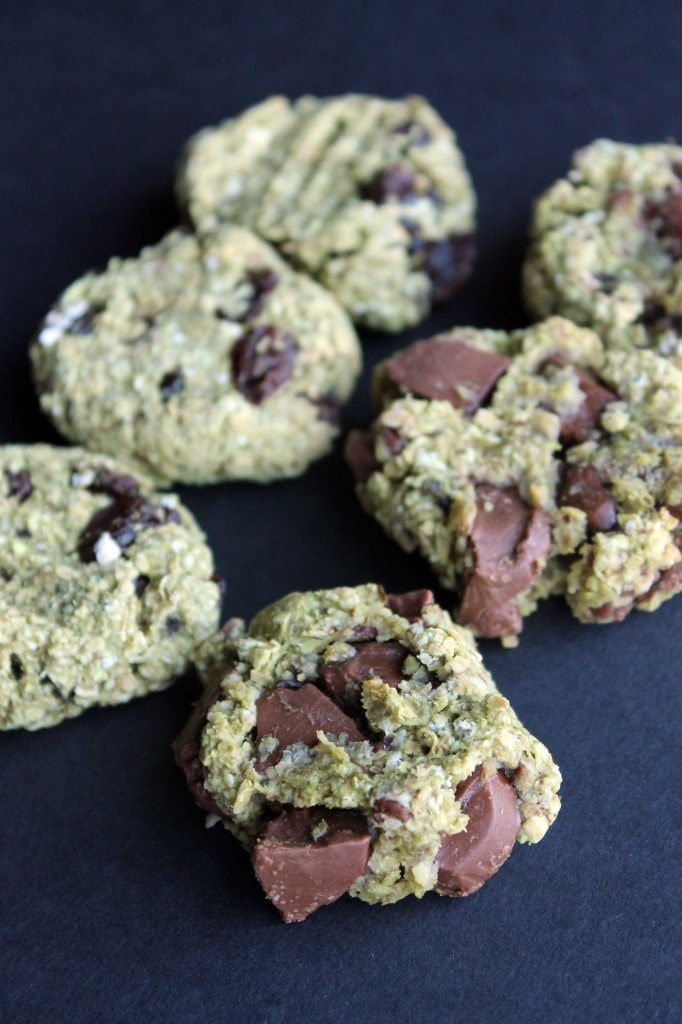 Avocado Oat Cookies lined up