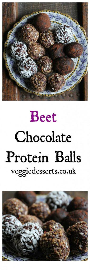 Beet Chocolate Protein Balls | Veggie Desserts Blog