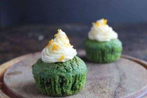 Kale and Orange Cupcakes