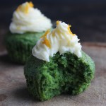 Kale and Orange Cupcakes with Orange Icing