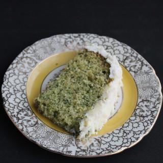 Spinach Vanilla Cake