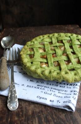 Apple Pie with Kale Crust