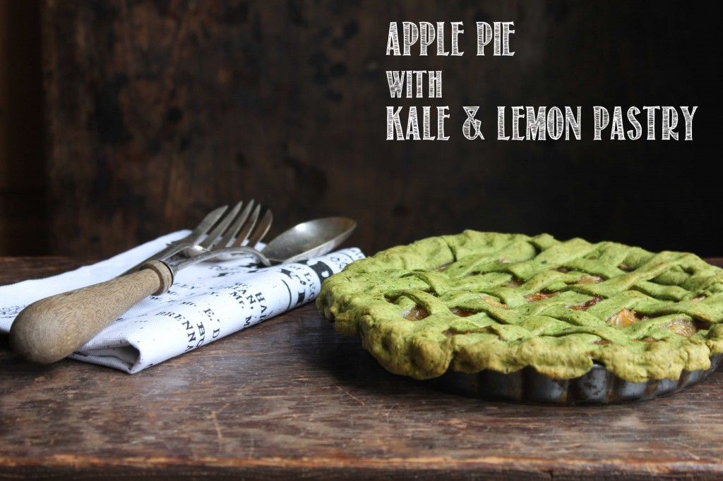 Apple Pie with Kale and Lemon Pastry