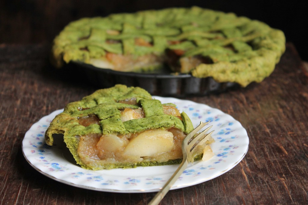 Apple Pie with Kale and Lemon Crust