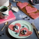 Buckwheat Blueberry Beet Pancakes