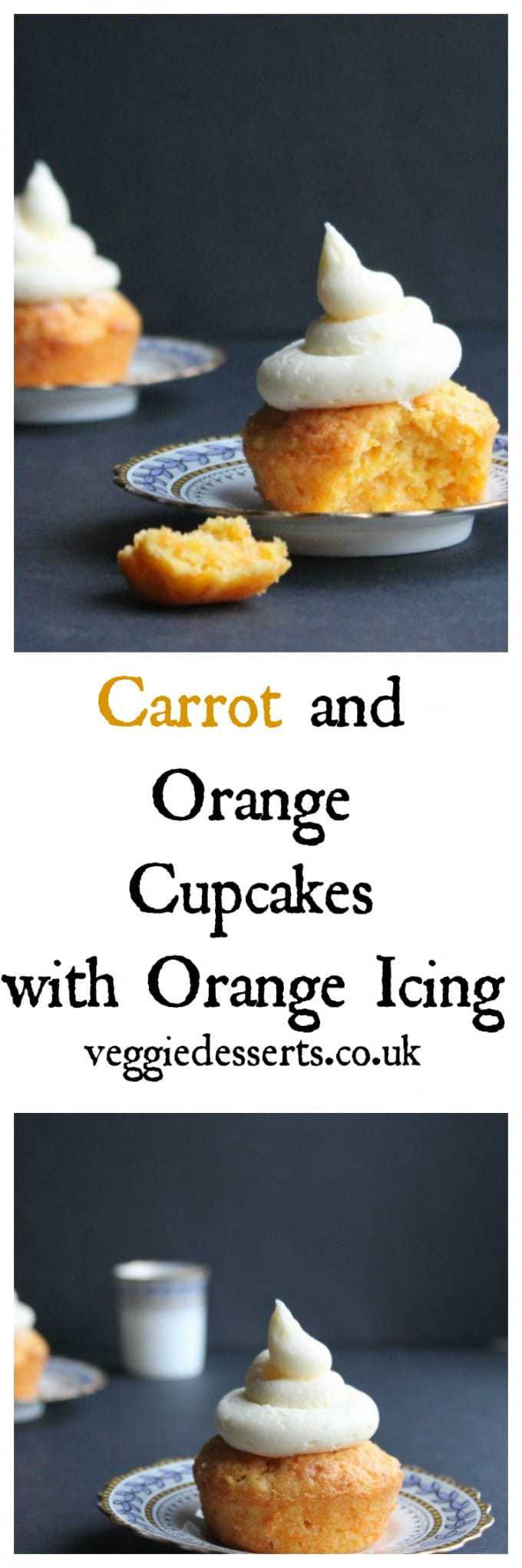 Carrot orange cupcakes are a completely different take on carrot cake. Instead of heavy wintery spices, I've flavoured the carrot sponge with vibrant orange. They taste light and vibrant. #carrotcake #carrotcupcakes #vegetabledesserts #vegetablecake
