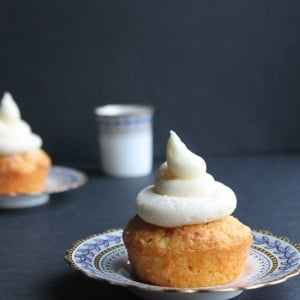 Carrot and Orange Cupcakes with Orange Icing