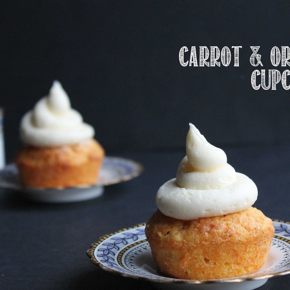 Carrot and Orange Cupcakes with Orange Icing | Veggie Desserts