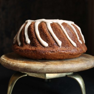 Cauliflower Banana Bundt Cake with Cinnamon Icing