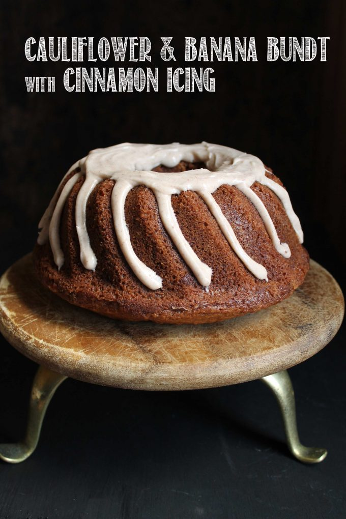 Cauliflower Banana Bundt Cake with Cinnamon Icing {Recipe}