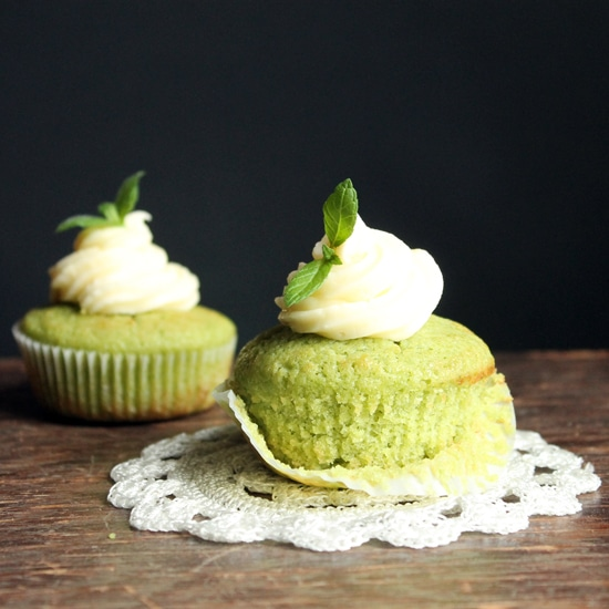Cucumber and Mint Cupcakes with Rose Water Buttercream | Veggie Desserts