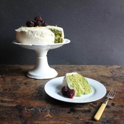 Lemon and Stinging Nettle Cake with Lemon Icing   Veggie Desserts Blog