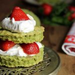 Pimm's-Infused Strawberry and Spinach Shortcakes with Coconut Cream