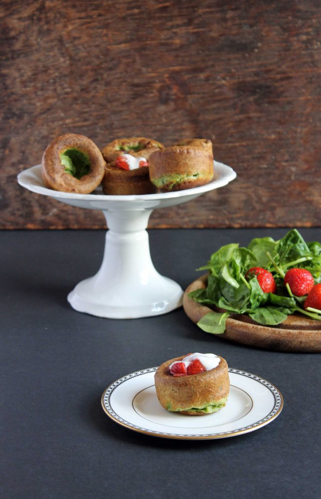 Sweet Spinach Yorkshire Puddings Popovers With Roasted