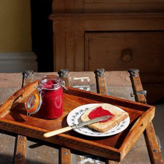 Beet and Raspberry Chia Jam (Vegan, Raw)