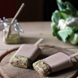 Cauliflower and Chocolate Ice Lollies with Pistachio Dust | Veggie Desserts