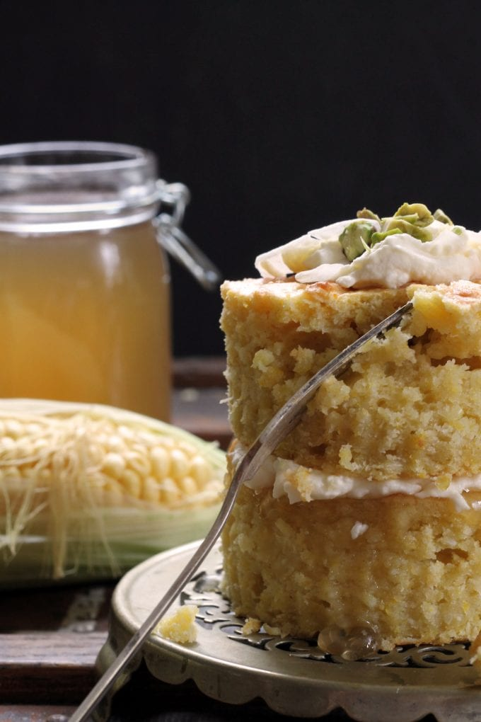 Sweet Corn and Coconut Mini Cakes with Corn Cob Jelly | Veggie Desserts