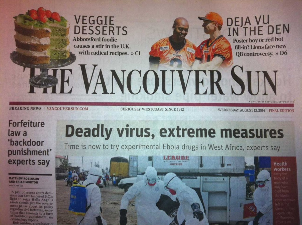 Veggie Desserts in The Vancouver Sun Aug 2014