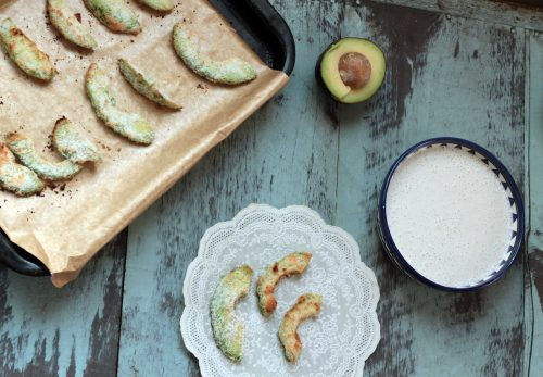 Avocado Coconut Fries with Coconut, Cashew and Cardamom Dip | Veggie Desserts