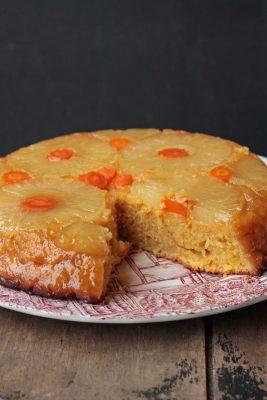 Pineapple and Carrot Upside Down Cake | Veggie Desserts