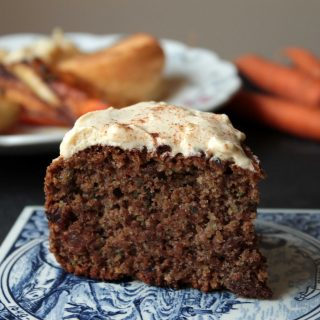 Roast Dinner Waste Cake (Maple Cinnamon Cake with Carrot, Parsnip and Potato Peelings)