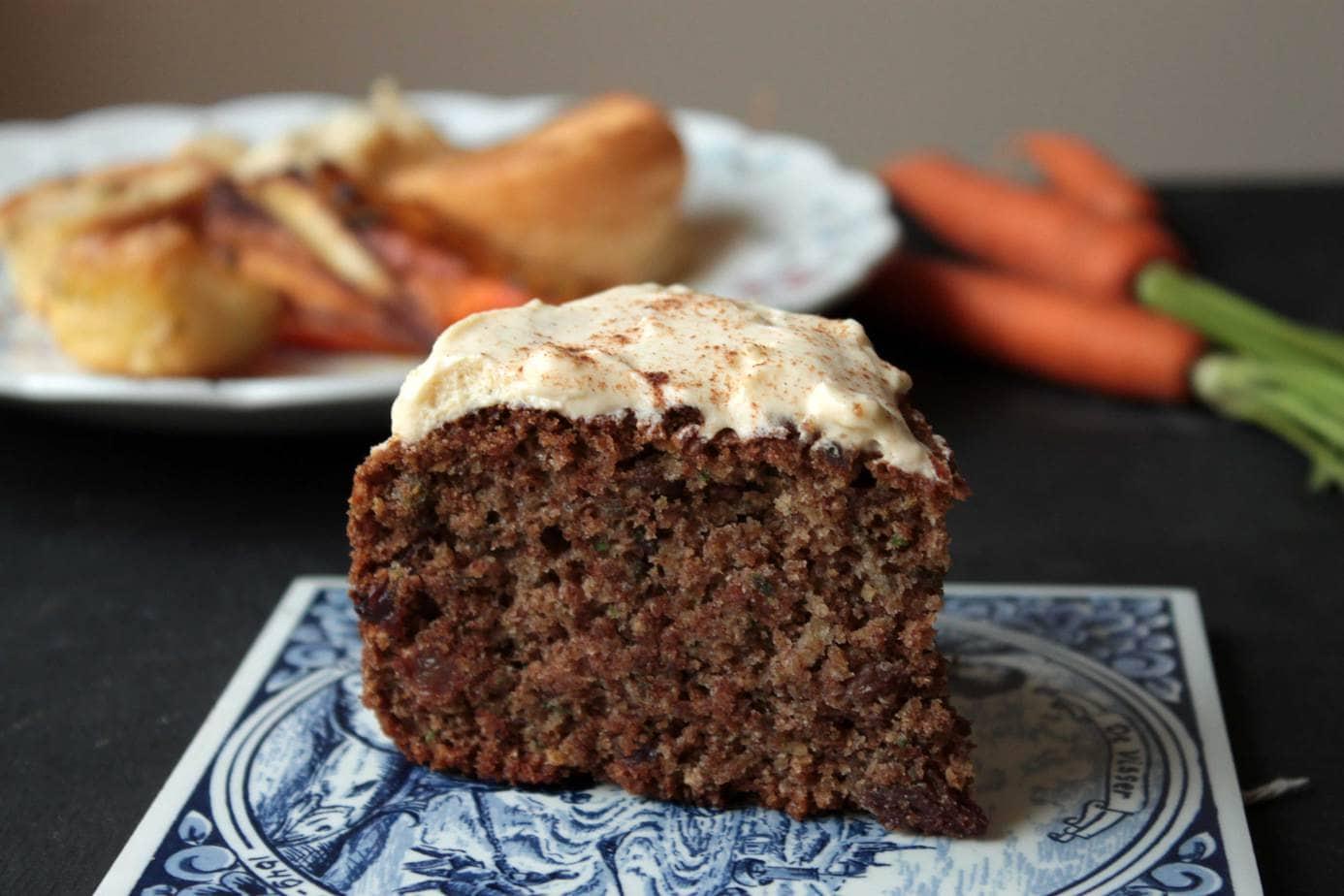 Carrot Cake Recipe Uk No Nuts: Roast Dinner Waste Cake (Maple Cinnamon Cake With Carrot