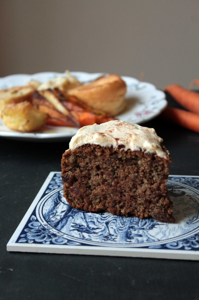 Roast Dinner Waste Cake (Maple and Cinnamon Cake with Carrot, Parsnip ...
