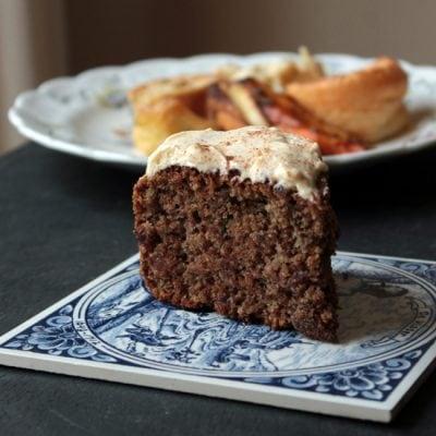 Roast Dinner Waste Cake (Maple and Cinnamon Cake with Carrot, Parsnip and Potato Peelings)   Veggie Desserts