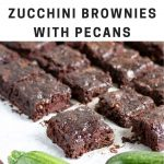 Pinnable image for vegan brownies with zucchini courgette