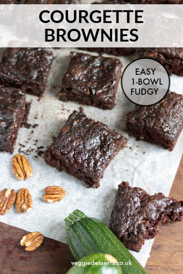 Pinnable image for Courgette Brownies