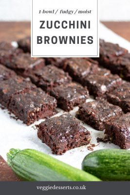 Pinnable image for zucchini brownies recipe