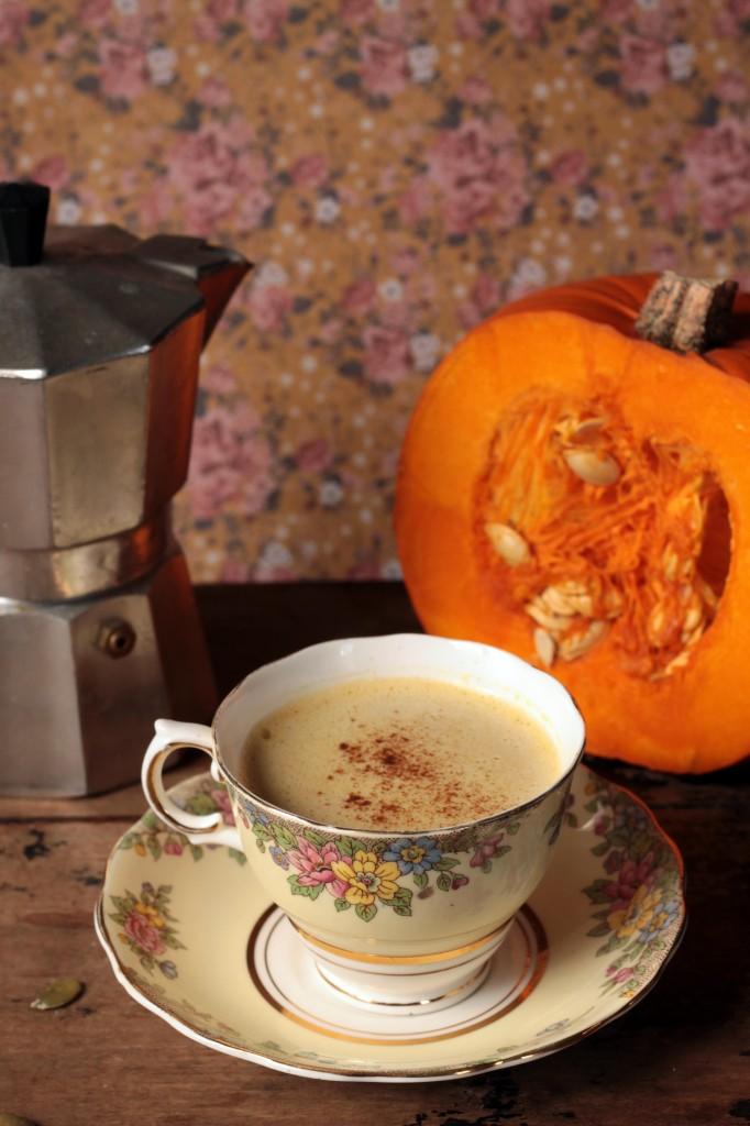 Pumpkin Spice Latte with Pumpkin Seed Milk | Veggie Desserts