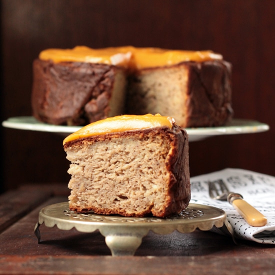 Parsnip, Maple and Nutmeg Cake with Sweet Potato and Ginger Frosting