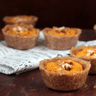 Pumpkin Tarts with Chai Hazelnut Crust (vegan)