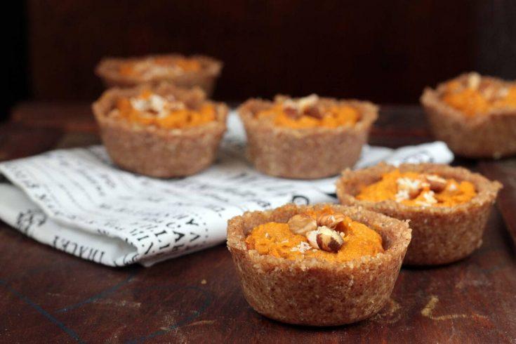Pumpkin Tarts with Chai Hazelnut Crust (vegan)