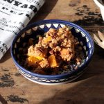 Pumpkin Spice Crisp (Crumble) with Gingerbread Pecan Topping