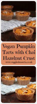 Vegan Pumpkin Tarts with Chai Hazelnut Crust   Veggie Desserts Blog